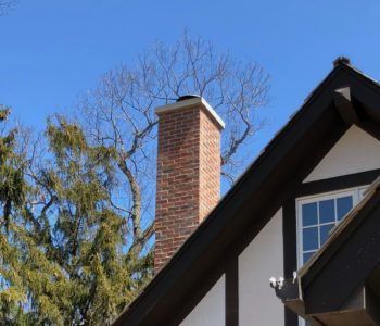 Chimney Veneer Brick Installation