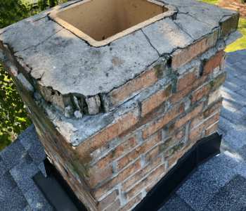 Green Chimney Stains
